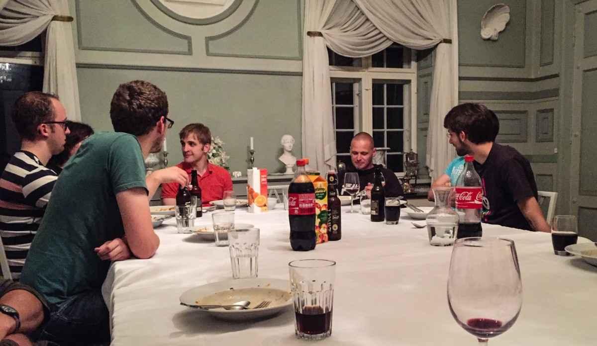 The core team at the dinner table