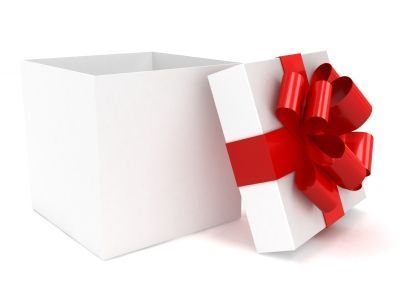 Picture of a opened gift box