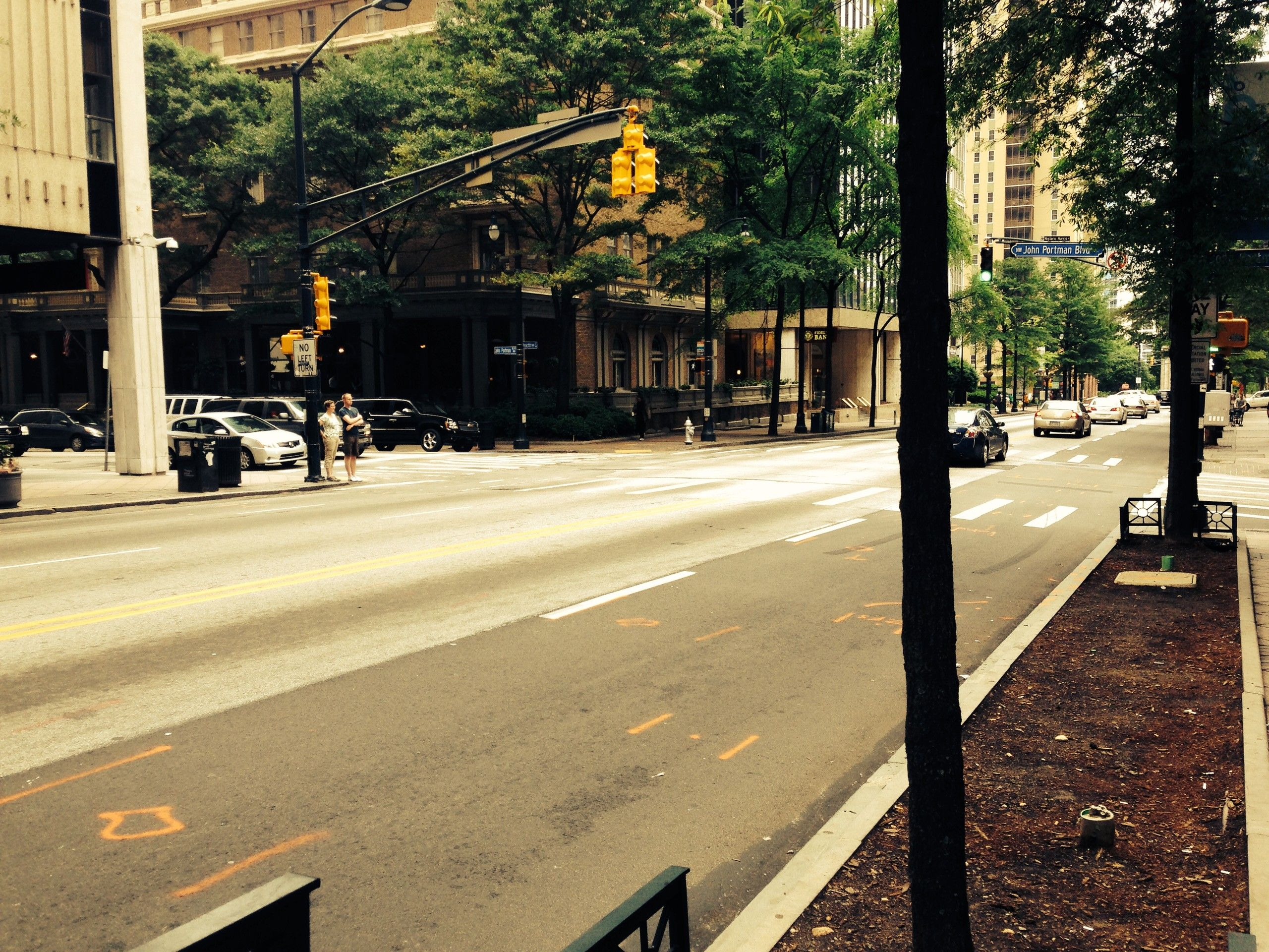Straße in Downtown Atlanta