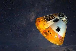 Space capsule landing