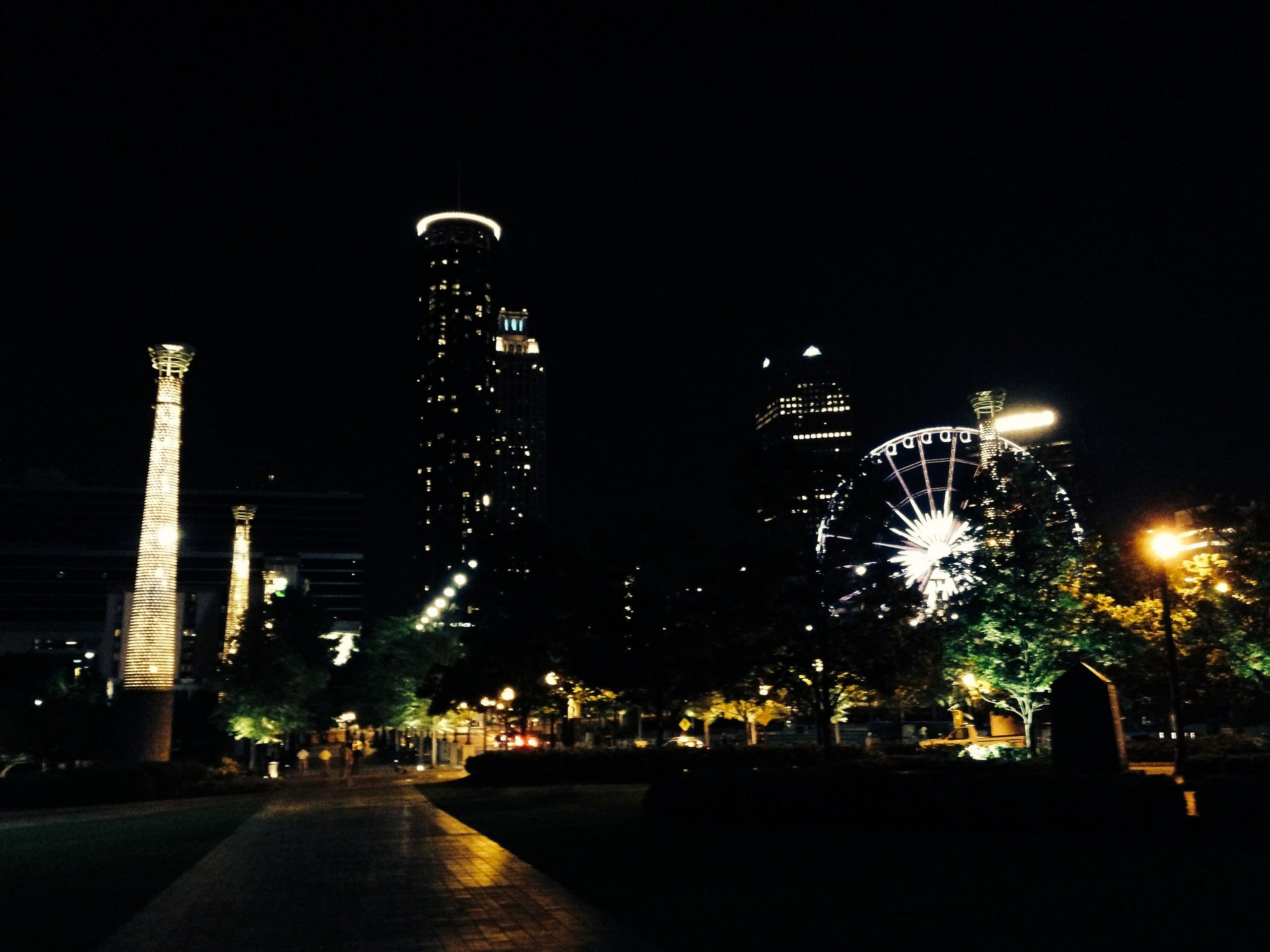 Nachtaufnahme von Atlanta