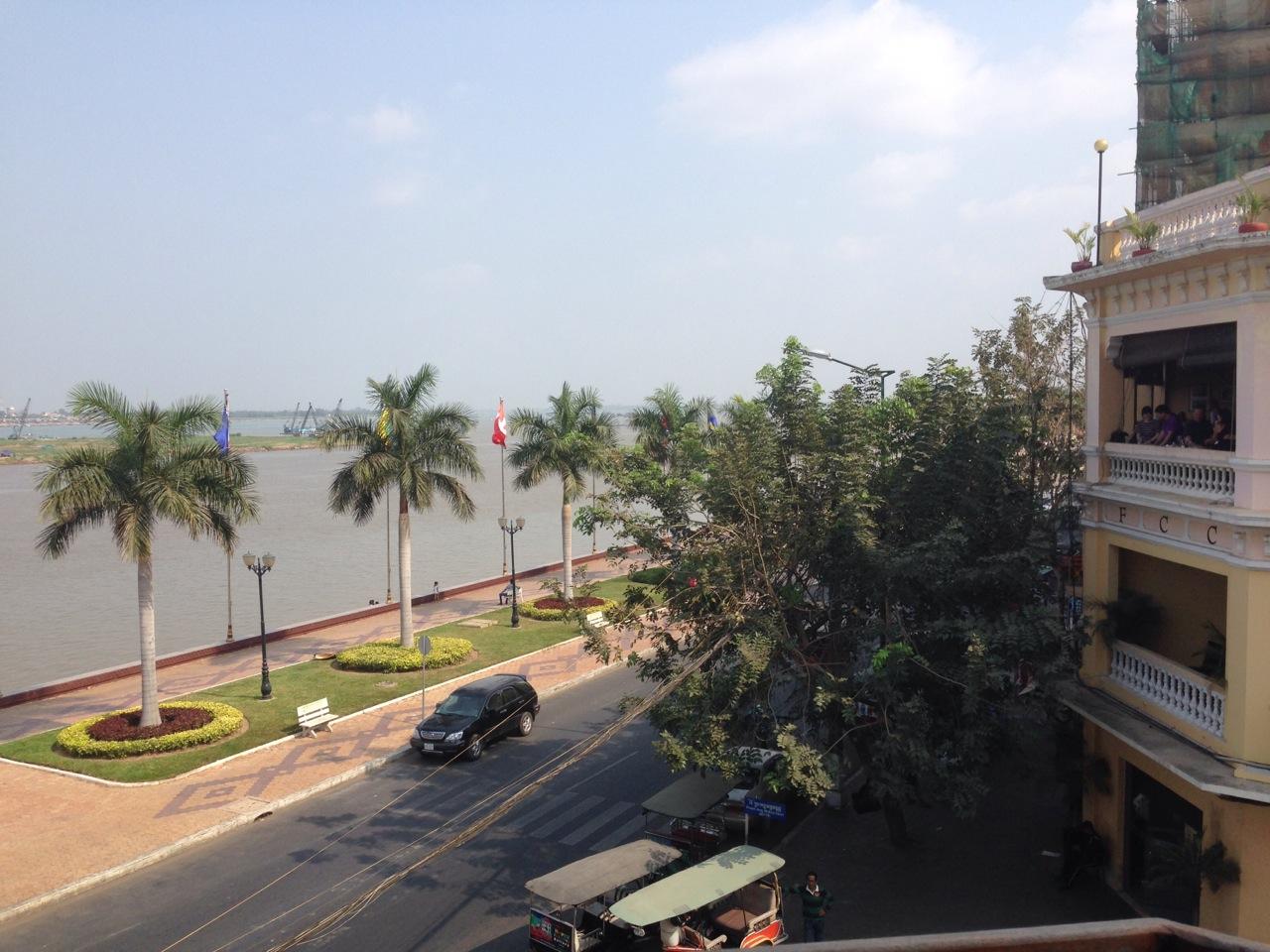 Aussicht auf den Fluss Tonle Sap